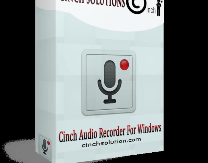 Cinch Audio Recorder 4.0.2 Crack + KeyCode full Version [2021